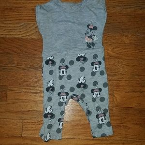 Girls one piece minnie mouse romper